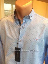 Tommy Hilfiger 2019 стильные  креативные мужские рубашки, Новые