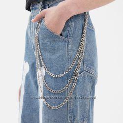 Металическая цепь стильное модное украшение для одежды унисекс