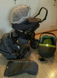 Детская коляска tutek tambero polka dots с подарками Польша