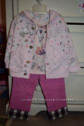 Акция Детский комплект тройка, джинсы, кофта, футболка 6-18 мес.
