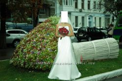 Свадебное платье рыбка цвет айвори