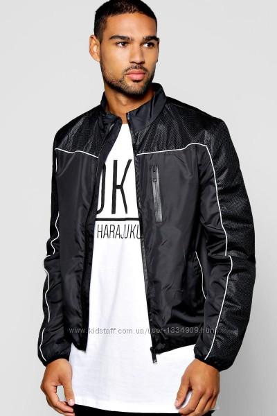 Куртка ветровка черная бомбер brave soul s-xl