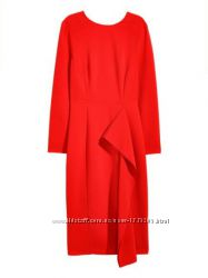 Шикарное алое платье - футляр от H&M. Размер в наличии 18.