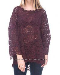 Очень красивая кружевная блуза цвета марсала от Zara.
