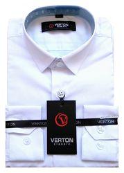 Акционная цена до 29.11 Рубашка, тенниска белая, рост 122-164, Турция