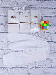 Нарядные белые колготки Arti с узором на девочек 7-8 лет