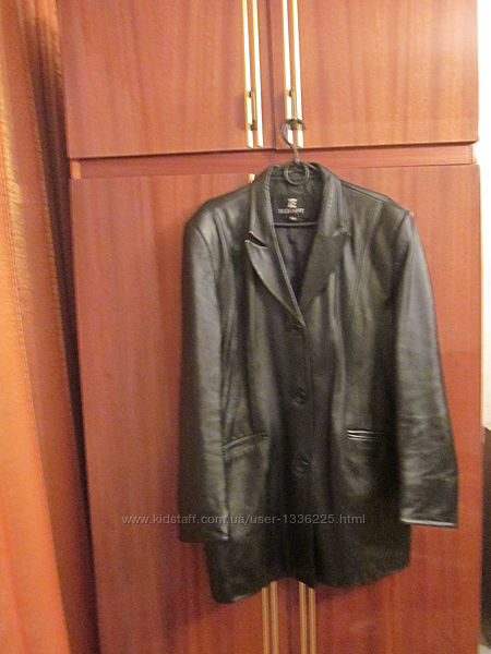 Куртка, пиджак Elegant кожаный, классический  размер XXL - 52
