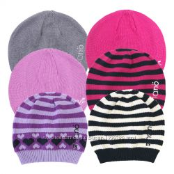 Демисезонная вязанная шапка для девочки коттон НАНО Канада