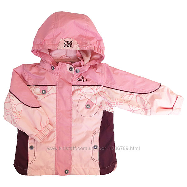 Демисезонная куртка на флисе на девочку GUSTI Канада