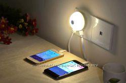зарядное устройство с LED-фонариком