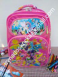 Школьный рюкзак для девочки 3D принт пони