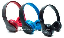 Беспроводные наушники bluetooth  microsd mdr p47, разные цвета