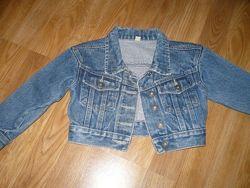 Пиджак джинсовый 104р.