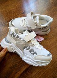 Белоснежные кроссовки для девочек и мальчиков