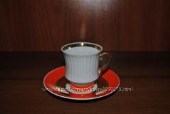 кофейные  пары, чашка, блюдце