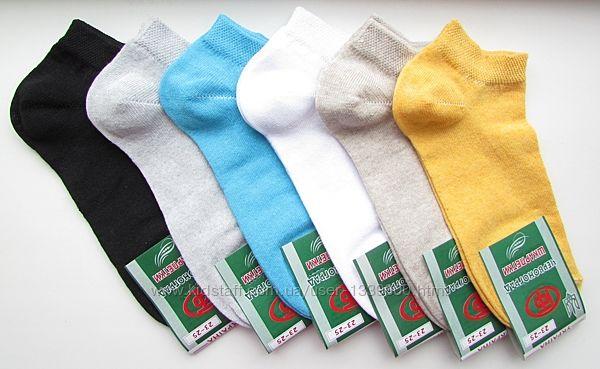 Носки жіночі, однотонні, короткі, стрейч