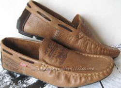 Стильные кожаные мужские мокасины Levis весна лето осень супер туфли Левайс