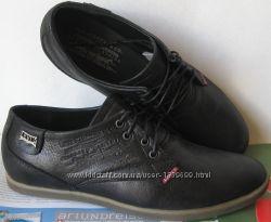 Levis стильные осенние мужские классические туфли ботинки натуральна кожа
