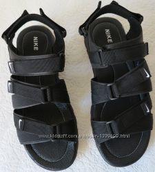 Nike жесть  Мужские кожаные сандали на липучках Найк