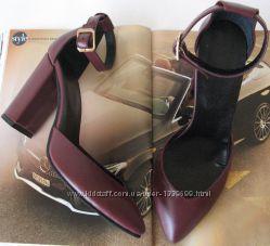 Mante Красивые женские натуральная кожа босоножки туфли каблук 10 см осень