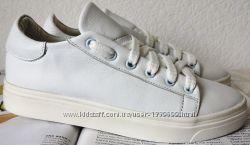 White Белые эффектные стильные кожаные кеды обувь весна лето для девочек и