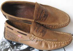 Стильные кожаные легкие мужские мокасины Levis весна лето осень туфли супер