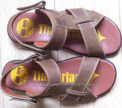Новые Timberland Мужские удобные кожаные сандалии черного цвета Тимберланд