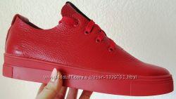 Gucci Красные красивые кожаные кеды мокасины женские слипоны  Гуччи