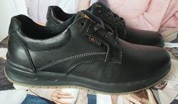 Ecco комфорт Мужские туфли натуральная кожа ботинки демисезонные экко