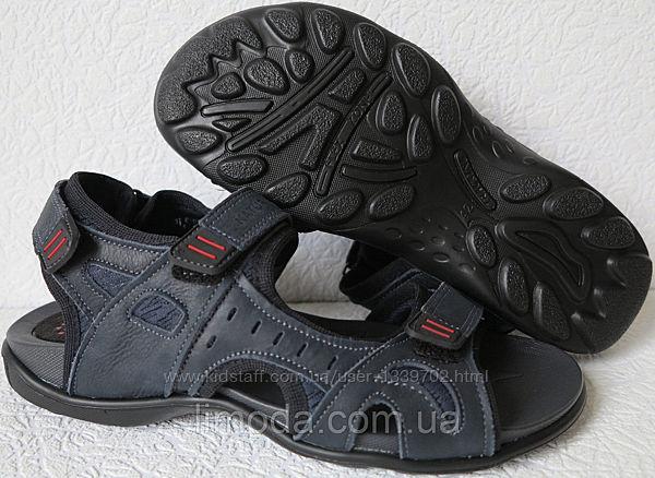 Ессо biom Детские сандалии синяя кожа качественная босоножки Экко