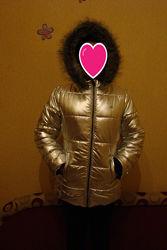 Шикарная зимняя фирменная куртка Calvin Klein 146-152р
