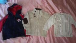 Фирменный тёплый свитер, бомпер, толстовка дешево на мальчика 1-2 года
