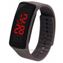 Спортивные силиконовые часы-браслет LED