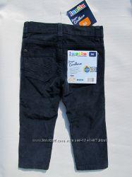 Вельветовые синие штаны на 1, 5  и  2 года рост 86, 92 см Lupilu германия