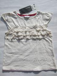 Нарядная футболка для девочки на 6 - 7 лет. Рост 116 - 122 см. George Англи