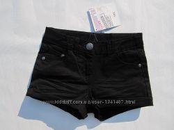 Шорты джинсовые черные на 7, 9  лет рост 122, 134 см. Pepperts Германия