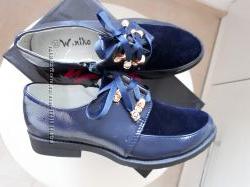 Закрытые осенние туфли полуботиночки в школу 31-36р
