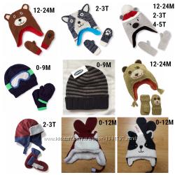 Набор шапка і рукавиці, Картерс, Чілдренс в наявності різні моделі