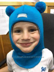 Шапки шлем мишки для мальчиков  100 шерсть Beezy