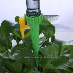 Лейка - конус с краником для капельного полива растений