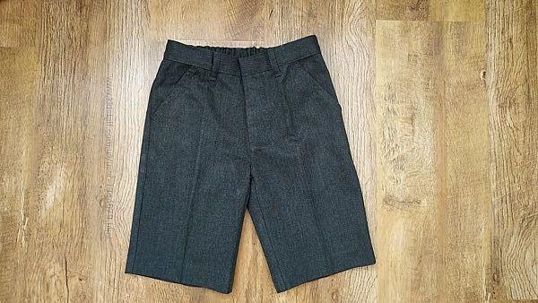 Школьные серые и черные шорты для мальчика Matalan 122- 128