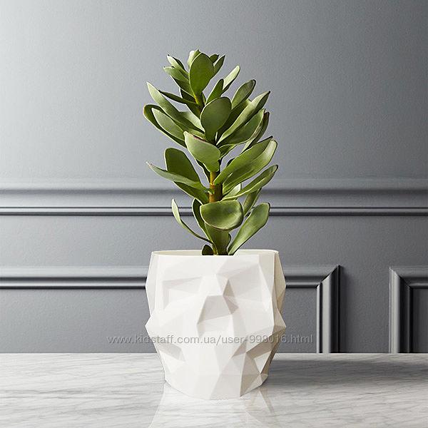 Кашпо, ваза, горшок, подставка полигональный Череп. 12х8,5х7см. 3D печать