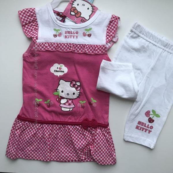 Комплект 2в1. HELLO KITTY плаття-туніка та шортики 06-09-12-18-24-36міс.