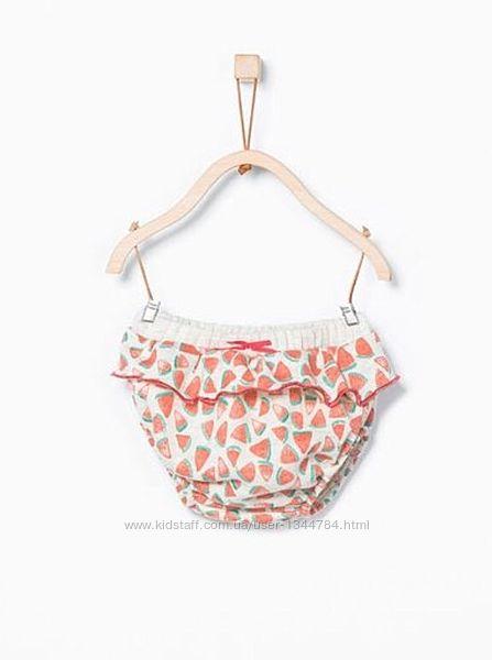 Zara baby / теплі трусики - блумери на підгузник 62 1-3міс. 68 3-6міс.