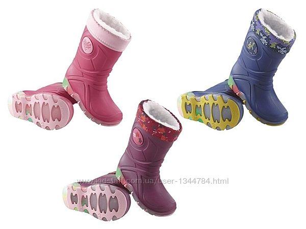 LUPILU kids. Утеплені резинові чоботи, підошва світиться 24-25 26-27 28-29