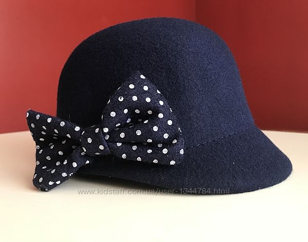 H&M стильная шляпа, шляпка 92-104 2-4года котелок винтаж
