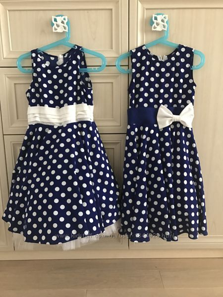 Платье в горох  в стиле стиляг, можно  на близняшек