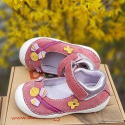 19, 20, 22 Кожаные сандалии туфли кроссовки для девочки DD Step дд степ