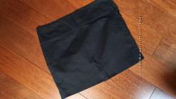 Юбка черная короткая женская zara, размер L, мини