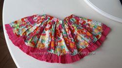 Юбка для девочки розовая Ladybird 4-5 лет, двойная, пышная, яркая